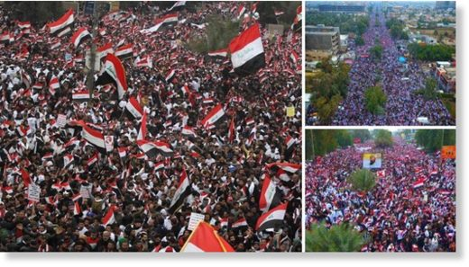 Thousands of Iraqis Protest