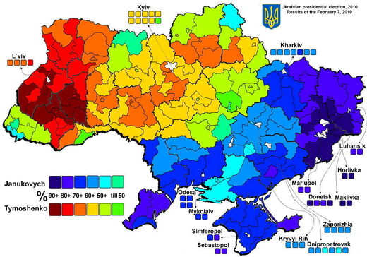 election results ukraine 2010 donbass