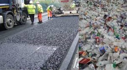 Roads made with plastic