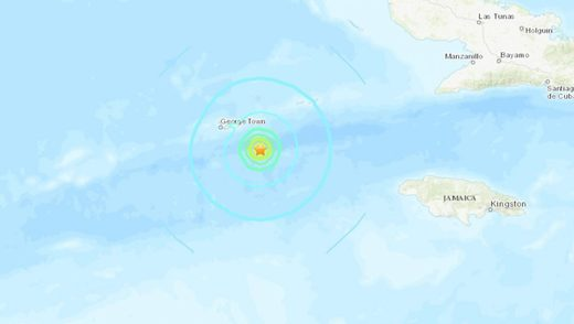 M6.1 earthquake hits off the Cayman islands on January 28 2020