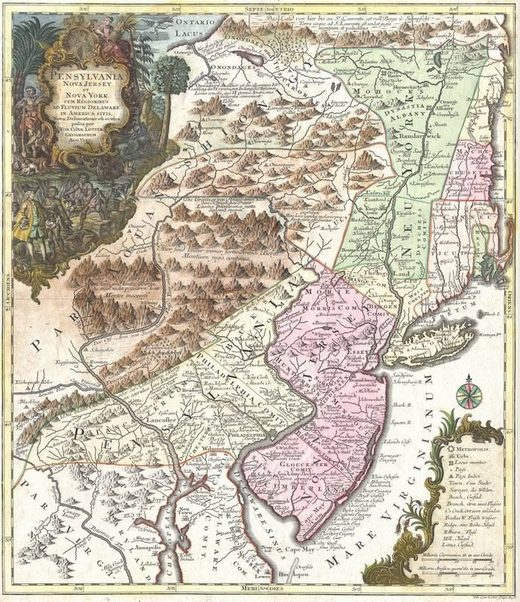 18th-century map new jersey
