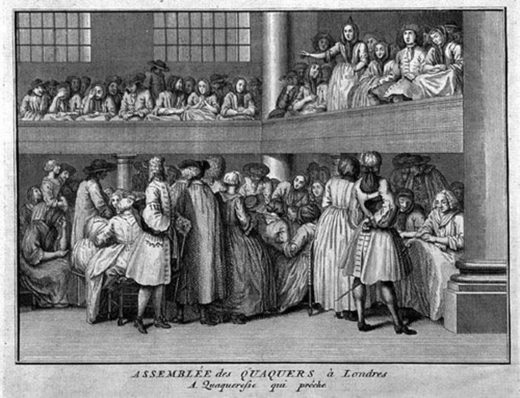 quaker meeting 18 century