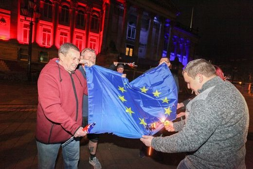 EU flag burn brexit fail