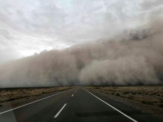 Dust storm in Argentina