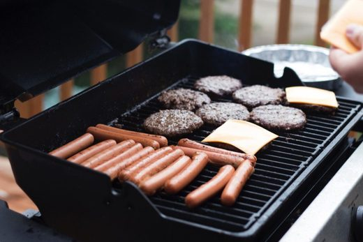 BBQ burgers and dogs