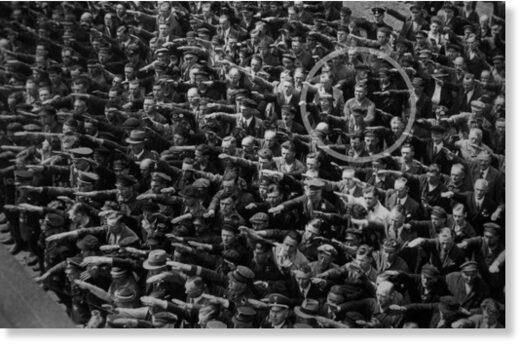 nazi salute refusal