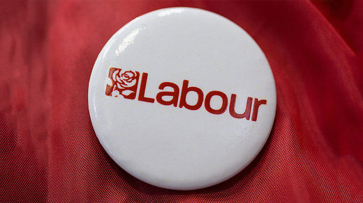 UK labour party button