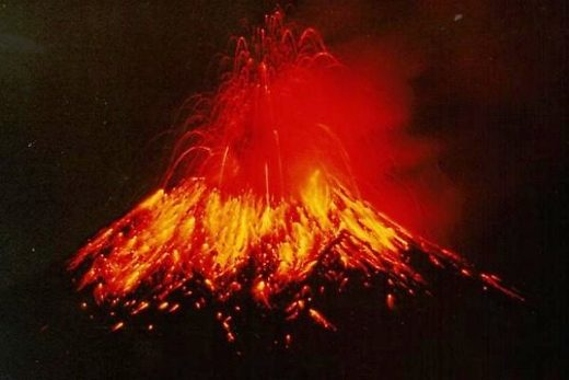 Tungurahua erupting on November 2nd, 1999