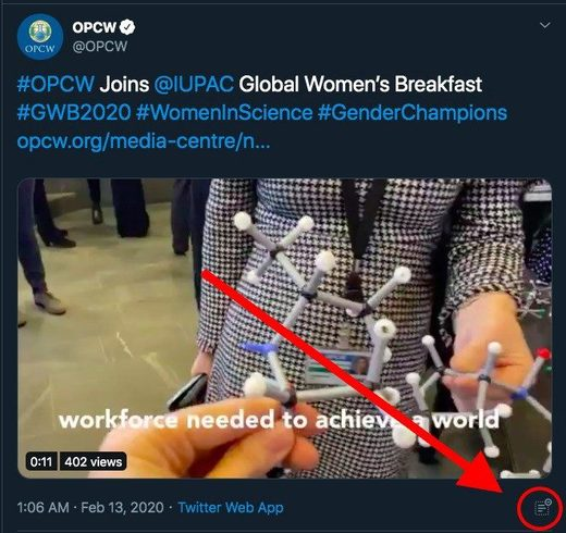 opcw tweet hidden replies