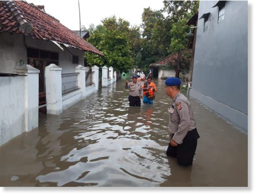 Floods in Cirebon Regency, West Java, Indonesia 16 February, 2020