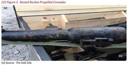 rusted rocket propelled grenade