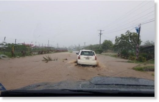 This is road near Faleolo Airport at Satapuala