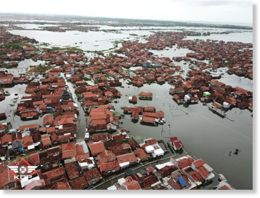 Floods in Pekalongan, Central Java, Indonesia February 2020