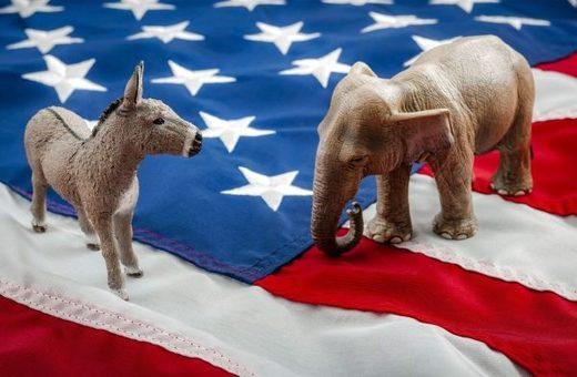 donkey elephant flag
