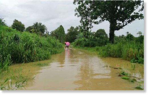 Flooding in Eastern Guadalcanal (file photo).