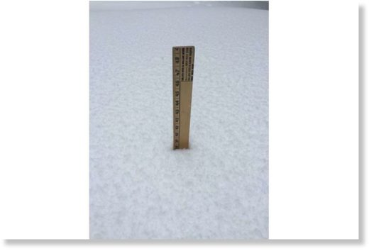 A measure of the snow