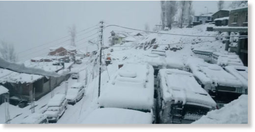 The snow-clad Keylong in Lahaul-Spiti.