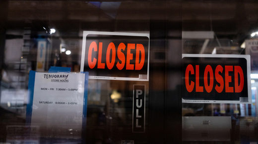 stores closed reduced hours