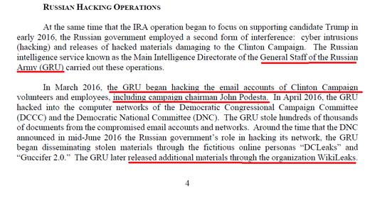 mueller report wikileaks DNC hack
