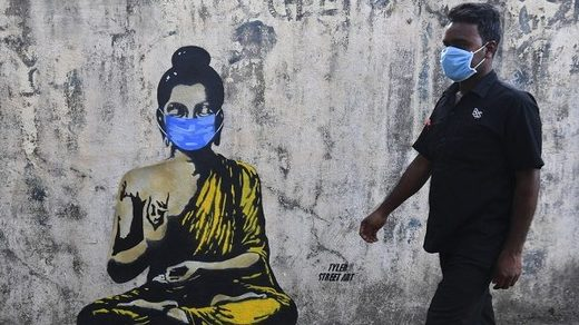 Street art of Buddha