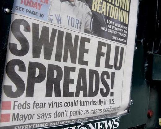 swine flu headline h1n1 2009