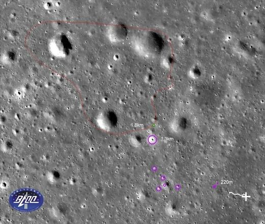 china lunar rover yutu route