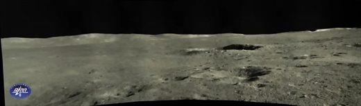 far side lunar landscape panorama china rover