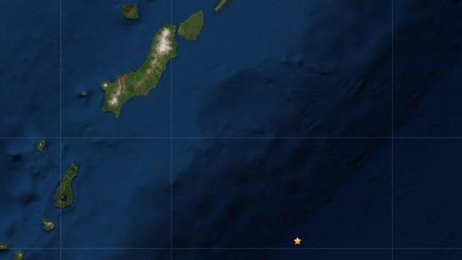 The Kuril Islands and the epicenter of the 7.5m quake