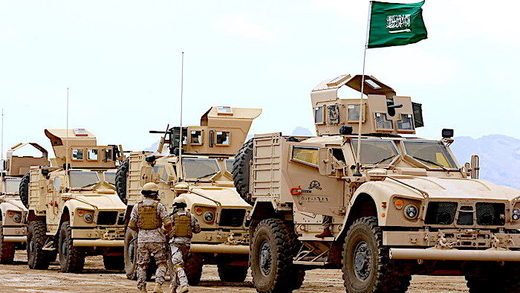 Saudi armored personnel carriers