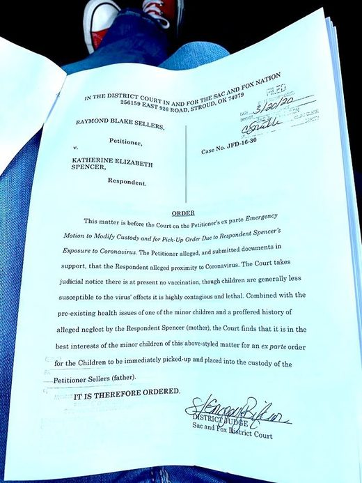 katie spencer court order