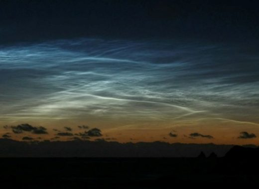 Noctilucent clouds (NLCs) have appeared over the South Pacific