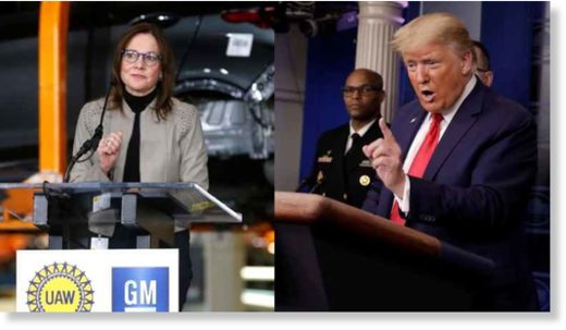 GM CEO Mary Barra and President Donald Trump