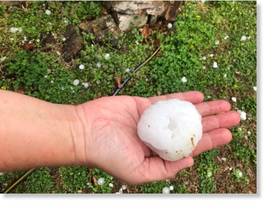 Baseball-sized hail hits Oklahoma