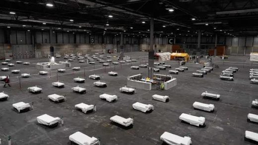 beds in convention center
