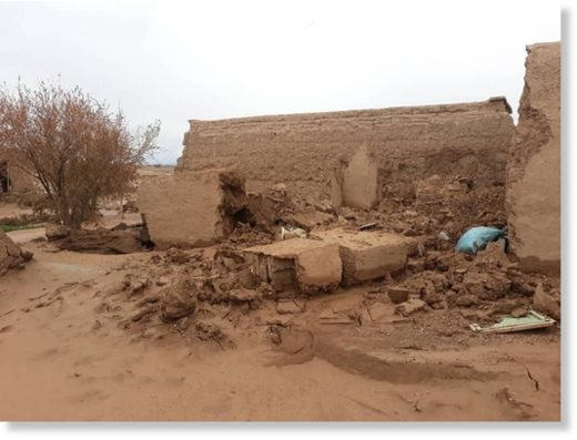Flood damage in Herat, Afghanistan, March 2020.