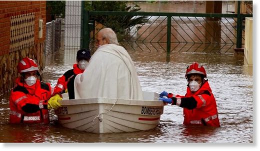 Flood rescue in Castellon, Spain, April 2020.