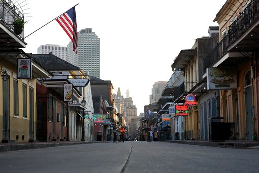 new orleans bourbon street lockdown