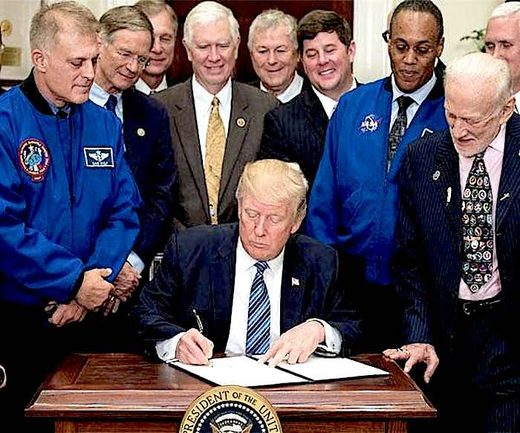Trump and Space guys