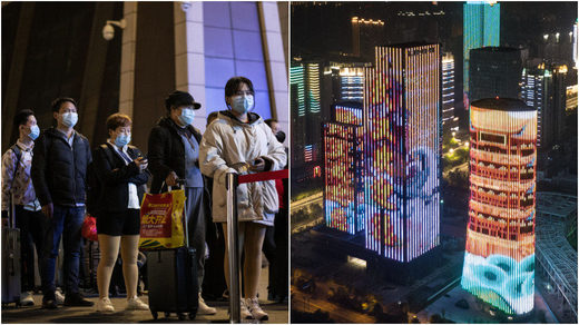 Wuhan travel restrictions lifted celebration