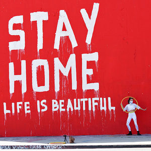 stay home mural