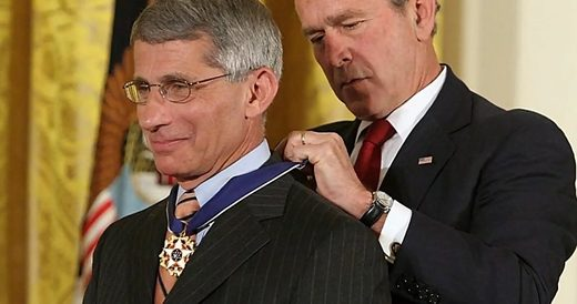 bush jr Fauci medal of freedom
