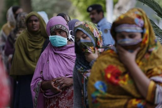 Woman in Islamabad in line