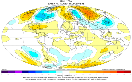 Global Temperature Report: April 2020