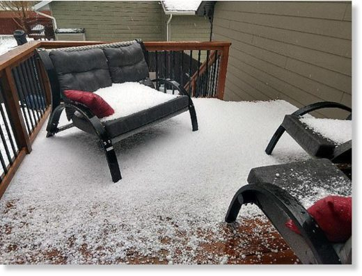 According to the National Weather Service (NWS), the storm system brought large hail to portions of the Black Hills, western South Dakota (pictured) plains and northeastern Wyoming on Sunday