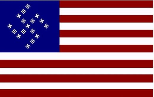 us flag swastika