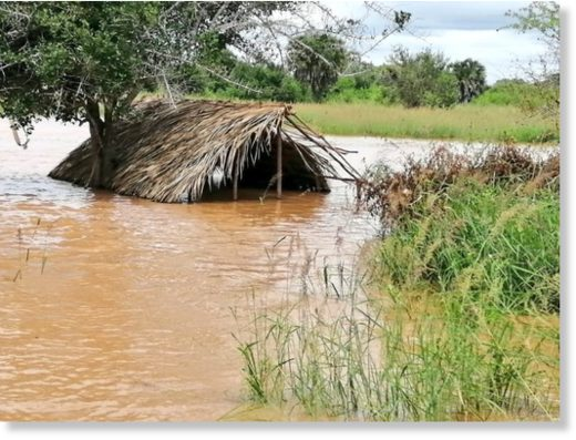 Floods in Tana River County, Kenya, May 2020.