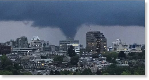 Funnel cloud spotted over Vancouver on May 12, 2020.