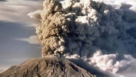 Mount St. Helens spews smoke, soot and ash into the sky in Washington state following a major eruption on May 18, 1980