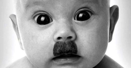 baby hitler moustache