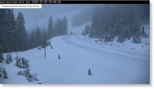 Teton Pass early on Sat, May 23